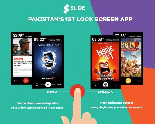 SLIDE, Pakistan's first lock-screen app rapid technological