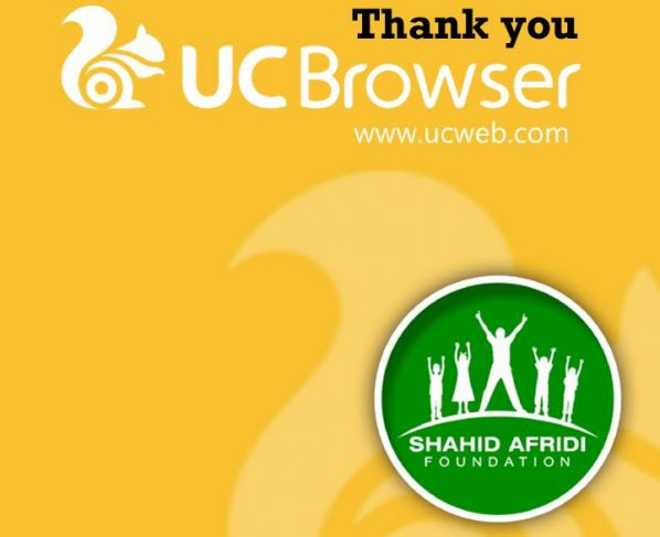 UC BROWSER SELECTS SHAHID AFRIDI FOUNDATION