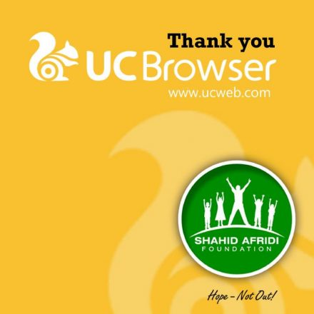 UC BROWSER SELECTS SHAHID AFRIDI FOUNDATION AS ITS FIRST CSR INITIATIVE PARTNER