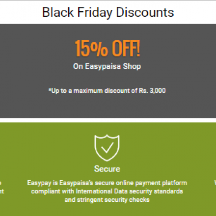 Easypay and other payment partners offer additional discounts on existing 80% off on Daraz Black Friday