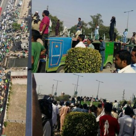 Huge crowd of Rickshaw drivers protesting against Uber and Careem