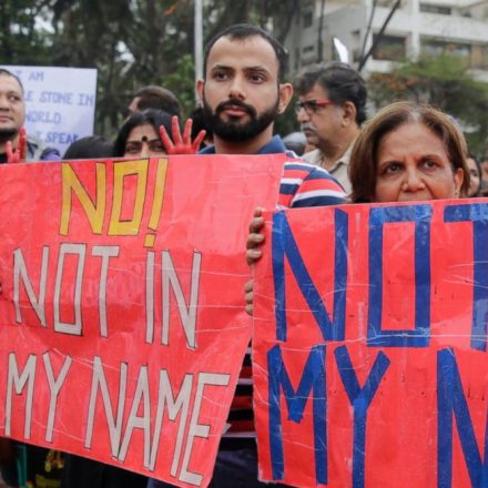 Indians protest against violent attacks on Muslims across the country
