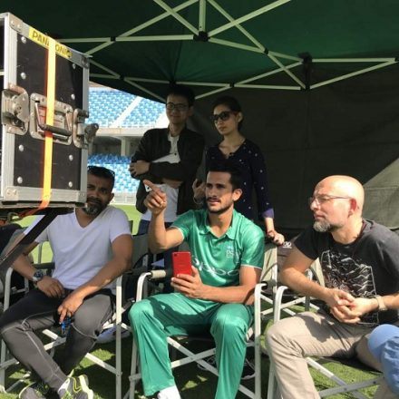 After taking the cricketing arena by storm, is Hasan Ali switching fields?