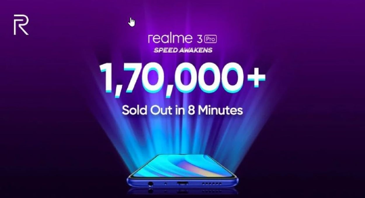 Over 170,000 Realme 3 Pro units sold in 8 minutes